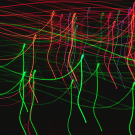 C. A. Hoffman Artwork String Theory Dancing Line, 2009 Color Photograph, Abstract