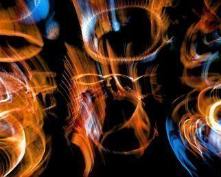 Artist: C. A. Hoffman - Title: String Theory Fire Within - Medium: Color Photograph - Year: 2009