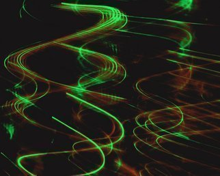 Artist: C. A. Hoffman - Title: String Theory Green Wave Fluctuation - Medium: Color Photograph - Year: 2009