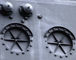 Military Color Photograph by C. A. Hoffman titled: Three Bolts Short of A Paint Job, created in 2009