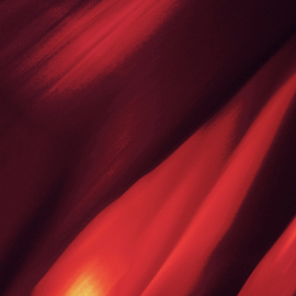 C. A. Hoffman: 'Torn Red Waves', 2009 Color Photograph, Abstract.