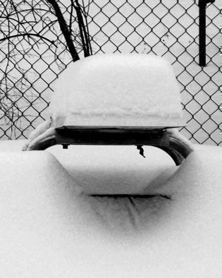C. A. Hoffman: 'Winters Timeout', 2009 Black and White Photograph, Abstract Landscape.