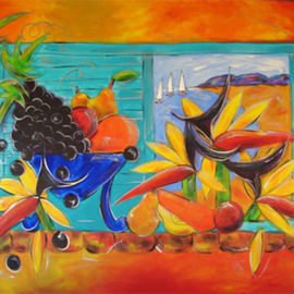Ms Sibraa: 'Bird of Paradise View', 2009 Other Painting, Still Life. Artist Description:  One of the series