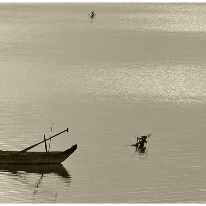 , Laos Mekong River Fishing, Landscape, $126