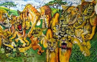 Pia Distefano: 'Call of The Wild', 2013 Oil Painting, Animals.                       Copyright 2013 PiA DiStefano                      ...