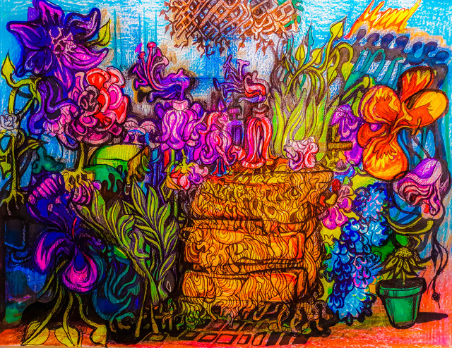 Pia Christina Distefano  'Garden Room', created in 2020, Original Painting Other.