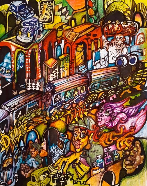 Pia Christina Distefano  'Street Train', created in 2020, Original Painting Other.