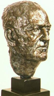 Pica Mertvago: 'Maugham', 1999 Bronze Sculpture, Portrait. Portrait of the writer W. Somerset Maugham...