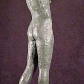 Pica Mertvago: 'Modesty', 1999 Bronze Sculpture, Figurative.