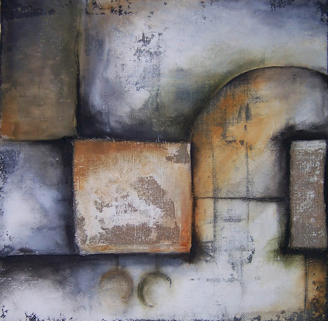 Agustin Castillo  'Abstract LXX', created in 2007, Original Mixed Media.