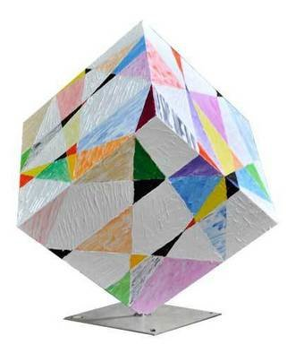 Dieter Picchio-specht Artwork Cube abstract fantasy, 2011 Steel Sculpture, Abstract