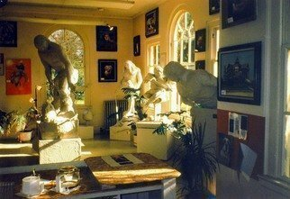 Color Photograph by Michael Pickett titled: 4 Statues 1993 The Art Show Collection, created in 1993
