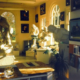 Michael Pickett: '4 Statues 1993 The Art Show Collection', 1993 Color Photograph, Life.