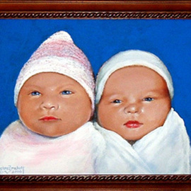 Michael Pickett: 'Babys', 2006 Acrylic Painting, Children. Artist Description:  Commissioned ...