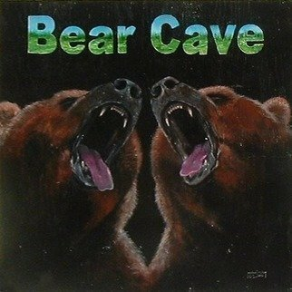 Animals Acrylic Painting by Michael Pickett Title: Bear Cave, created in 2013