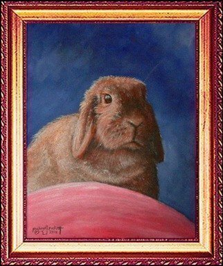 Animals Acrylic Painting by Michael Pickett Title: Buns, created in 2011