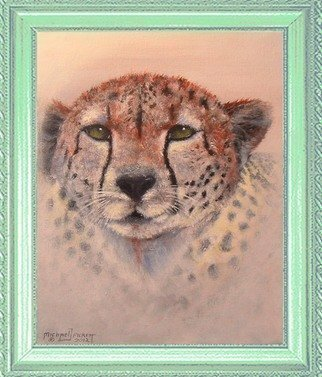 Cats Acrylic Painting by Michael Pickett Title: Cheetah, created in 2012
