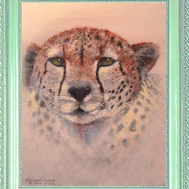 Michael Pickett Artwork Cheetah, 2012 Acrylic Painting, Cats