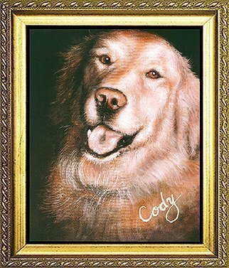 Animals Acrylic Painting by Michael Pickett titled: Cody, created in 1999