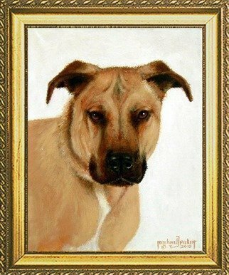 Animals Acrylic Painting by Michael Pickett Title: Commissioned Pet Portrait, created in 2015