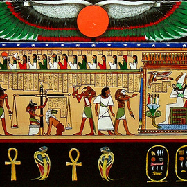 Michael Pickett: 'Egyptian Art ', 2007 Acrylic Painting, Mythology. Artist Description:  Commissioned ...