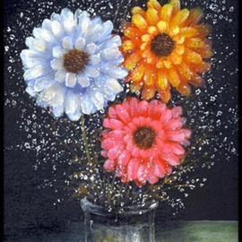 Michael Pickett: 'Flowers', 2004 Acrylic Painting, Still Life.