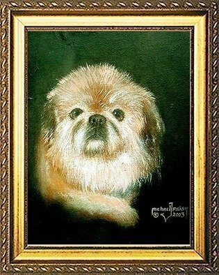 Animals Acrylic Painting by Michael Pickett Title: Gremlin, created in 2003