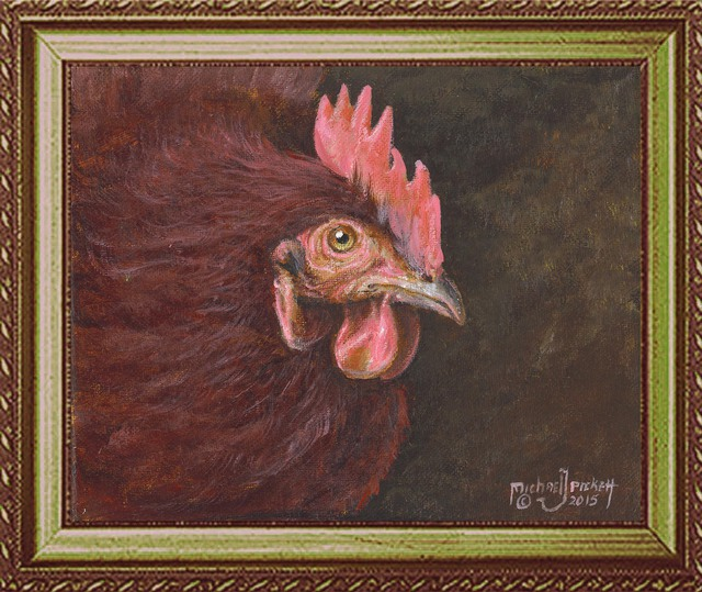 Michael Pickett: Helen The Chicken, 2014 Acrylic Painting