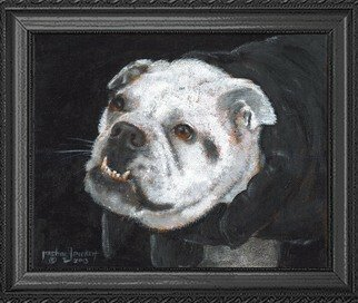 Michael Pickett: 'Izzabelle The Lady Vampire', 2013 Acrylic Painting, Dogs. Artist Description:   You can learn how to paint Izzabelle. She is an English Bull Dog. Go to pickettonline. com, click on ENTER, and on the top left corner click on the You- Tube link.  ...