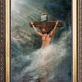 Michael Pickett: 'Jesus', 2002 Acrylic Painting, Religious. Artist Description:  Commissioned ...