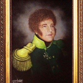 Michael Pickett: 'Jordon', 2005 Acrylic Painting, Portrait. Artist Description:  Portrait commissioned to be in the style of the 18th century. ...