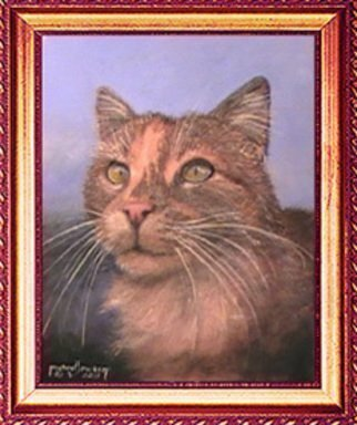 Cats Acrylic Painting by Michael Pickett Title: Kitty, created in 2011