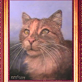 Michael Pickett Artwork Kitty, 2011 Acrylic Painting, Cats