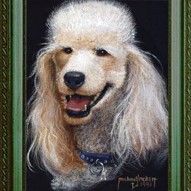 Michael Pickett Artwork Mac The Poodle, 1991 Acrylic Painting, Dogs