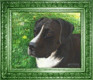 Animals Acrylic Painting by Michael Pickett Title: Maggie, created in 2013