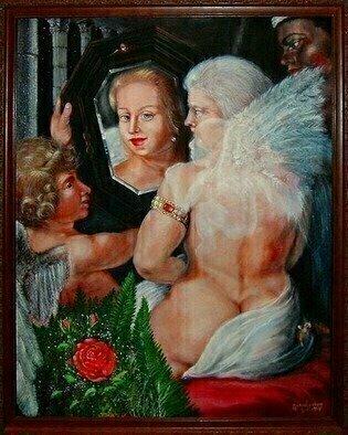 Artist: Michael Pickett - Title: Modern Toilet of  Venus - Medium: Acrylic Painting - Year: 1998