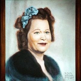 Michael Pickett: 'Mrs Weilbrenner 1940', 1991 Acrylic Painting, Portrait.