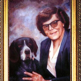 Michael Pickett: 'Nancy And Her Faithful Companion', 1991 Acrylic Painting, Portrait.