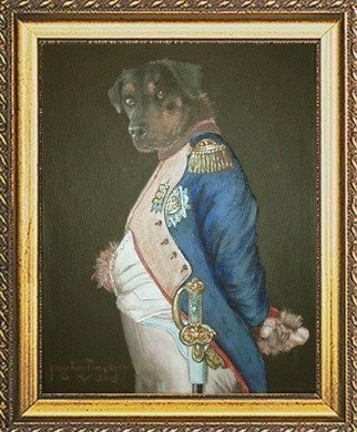 Animals Acrylic Painting by Michael Pickett Title: Napoleon , created in 2015