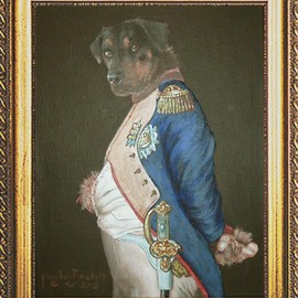 Michael Pickett: 'Napoleon ', 2015 Acrylic Painting, Animals. Artist Description:    Commissioned  ...