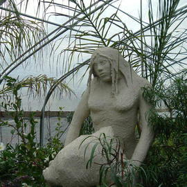 Michael Pickett: 'Neanderthal Statue', 1992 Other Sculpture, Culture. Artist Description:  Neanderthal Woman was made from an inner wood frame, chicken wire, masking tape and a sand and adhesive mixture.  ...