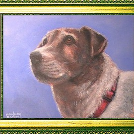 Michael Pickett Artwork Odie, 2010 Acrylic Painting, Dogs