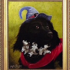 Michael Pickett Artwork Penny as Witchy Poo, 2011 Acrylic Painting, Dogs