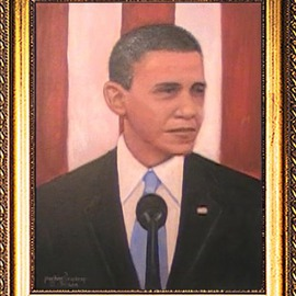 Michael Pickett: 'Portrait Of A President', 2011 Acrylic Painting, Portrait. Artist Description: You can learn how to paint this painting yourself. Go to www. pickettonline. com and click on Enter, then click on the YouTube link. Thank You....