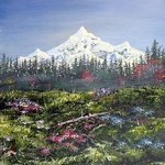 Snowcap Mountain By Michael Pickett