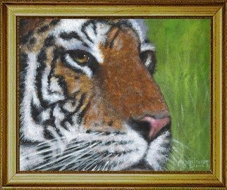 Animals Acrylic Painting by Michael Pickett Title: Tiger, created in 2012