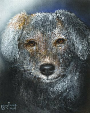 Michael Pickett: 'Ugly Mutt ', 2008 Acrylic Painting, Dogs.  This Dog is so ugly he's cute ...