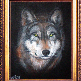 Michael Pickett Artwork Wolfy, 2006 Acrylic Painting, Dogs