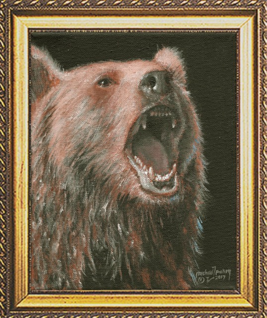Michael Pickett: brown bear, 2017 Acrylic Painting