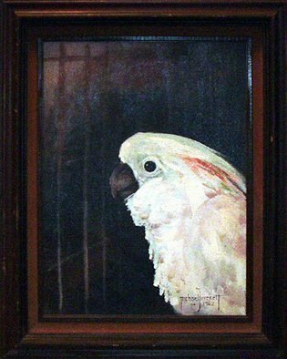 Michael Pickett: 'cockatoo', 1982 Acrylic Painting, Birds. This painting is a real Classic, it was created 26 years ago, all original with frame. This painting and frame is worn throughout time. Sold as it. ...